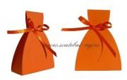 Krabička šaty v oranžové barvě