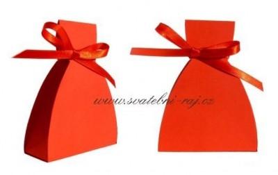 Krabička šaty červené