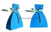 Krabička šaty v modré barvě