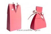 Krabička ženich v růžové barvě