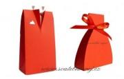Krabička ženich v červené barvě