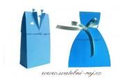 Krabička ženich v modré barvě