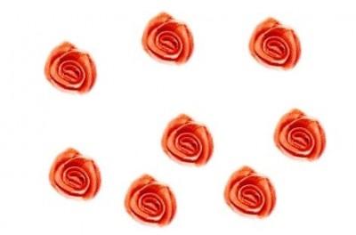 Saténová růžička červená