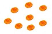 Zobrazit detail - Textilní růžička v oranžové barvě