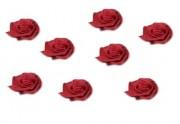 Zobrazit detail - Textilní růžička v barvě bordó