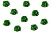 Zobrazit detail - Textilní růžička v zelené barvě