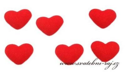 Srdíčko červené textilní