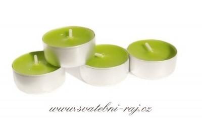 Čajové svíčky zelené