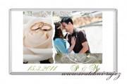 Zobrazit detail - Svatební čokoláda s fotkou a prstýnky