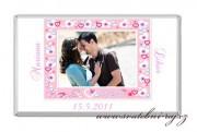 Zobrazit detail - Svatební čokoláda s fotkou v rámečku