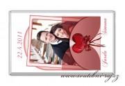Zobrazit detail - Svatební čokoláda s fotkou bordó