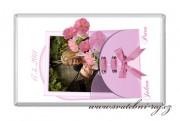Zobrazit detail - Svatební čokoláda s fotkou růžová