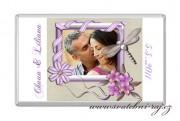 Zobrazit detail - Svatební čokoláda s fotkou a kvítky