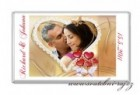 Svatební čokoláda s fotkou v srdci