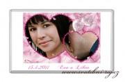 Zobrazit detail - Svatební čokoláda s fotkou a srdcem