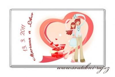Svatební čokoládka