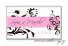 Svatební čokoládka růžovo-černá