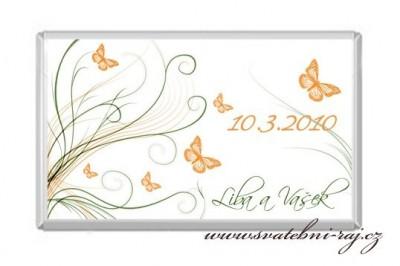 Čokoláda s motýlky