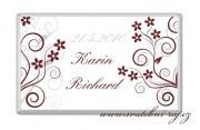 Zobrazit detail - Svatební čokoláda s kvítky