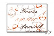 Zobrazit detail - Svatební čokoládka srdíčka