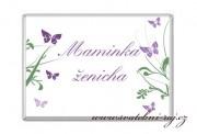 Zobrazit detail - Čokoládová jmenovka s motýlky