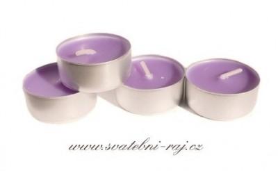 Svíčky čajové fialové