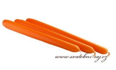 Kónická svíčka oranžová