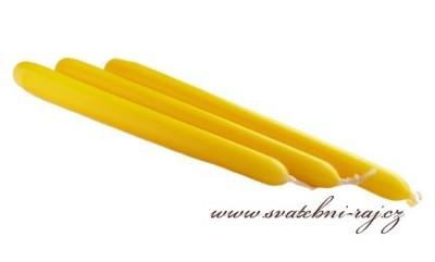 Kónická svíčka žlutá