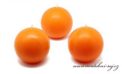 Oranžové svíčky koule