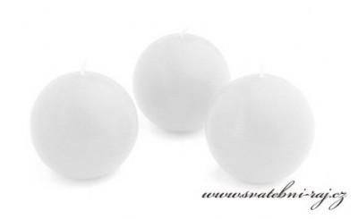 Svíčka koule bílá