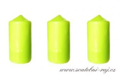 Svíčka válec jablíčkově zelená