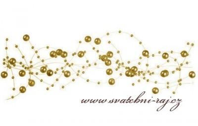 Zlaté dekorační perličky