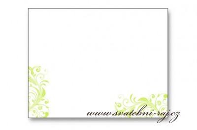 Svatební jmenovka ornament