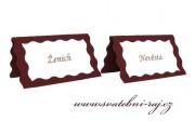 Zobrazit detail - Svatební jmenovka s vlnkou