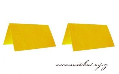 Jmenovky žluté