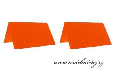 Jmenovky oranžové