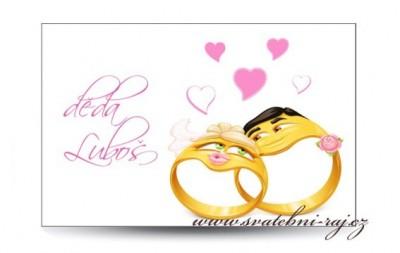 Jmenovka snubní prsteny