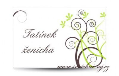 Jmenovka ornament
