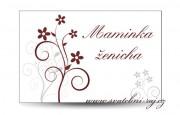 Zobrazit detail - Svatební jmenovka s květinkami