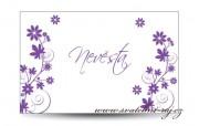 Zobrazit detail - Svatební jmenovka květinový dekor