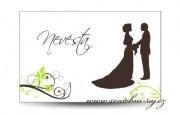 Zobrazit detail - Svatební jmenovka siluety