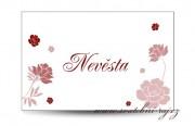 Zobrazit detail - Svatební jmenovka růžičky