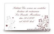 Zobrazit detail - Pozvánka na oslavu s květinkami