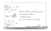 Zobrazit detail - Pozvánka na oslavu s motýlky