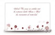 Zobrazit detail - Pozvánka na oslavu s růžičkami