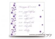 Zobrazit detail - Harmonogram svatebního dne s květinkami