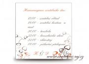 Zobrazit detail - Harmonogram svatebního dne se srdíčky