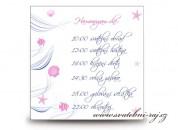 Zobrazit detail - Harmonogram svatebního dne mořský styl
