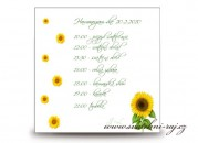 Zobrazit detail - Harmonogram svatebního dne se slunečnicemi