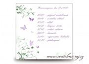 Zobrazit detail - Harmonogram svatebního dne s motýlky